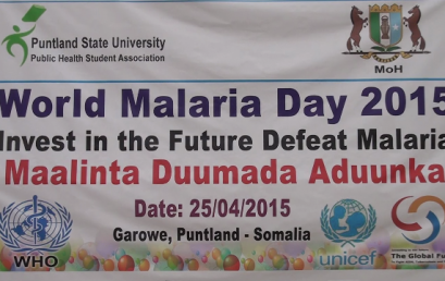 Puntland State University and the Puntland Ministry of Health jointly commemorate the World Malaria Day 2015